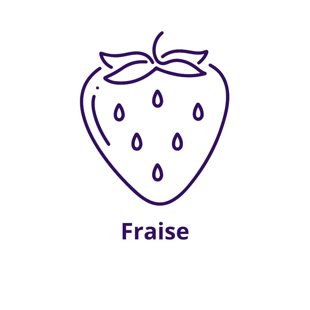Bouteille goût Fraise